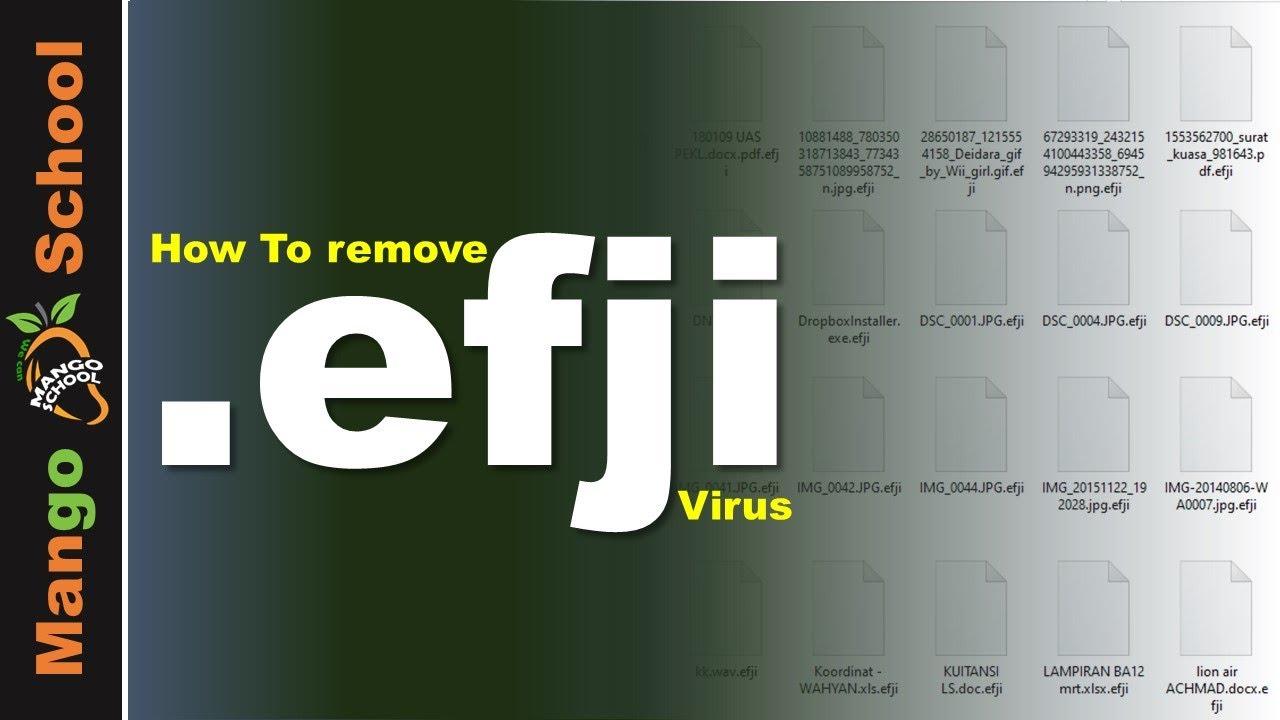 EFJI file virus ransomware [.efji] Removal and decrypt guide