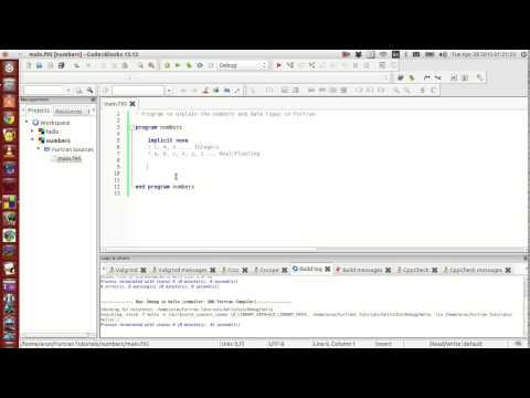 Fortran Programming Tutorials (Revised) : 003 : Implicit None + Simple Data types