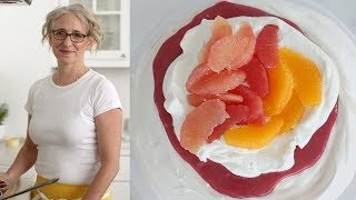 Cranberry-Curd-and-Citrus Pavlova- Everyday Food with Sarah Carey