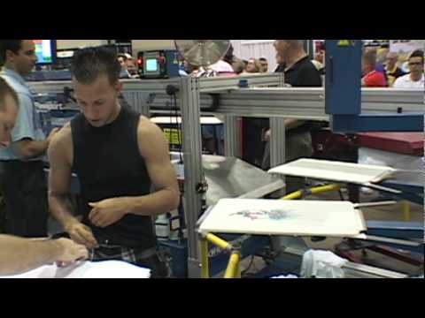 2010 Screen Printing World Speed Record Set on Challenger III Automatic Screen Printing Press