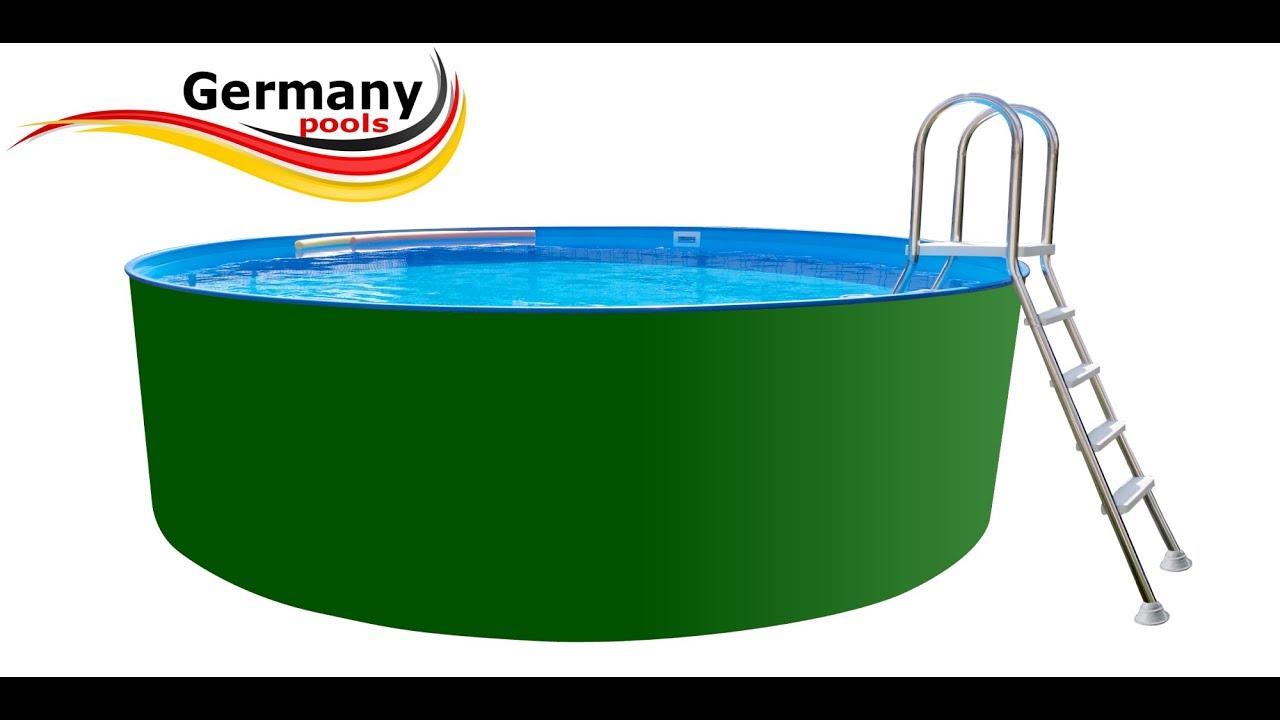 Stahlwandpool teilversenkt anleitung  Germany-Pools Montage