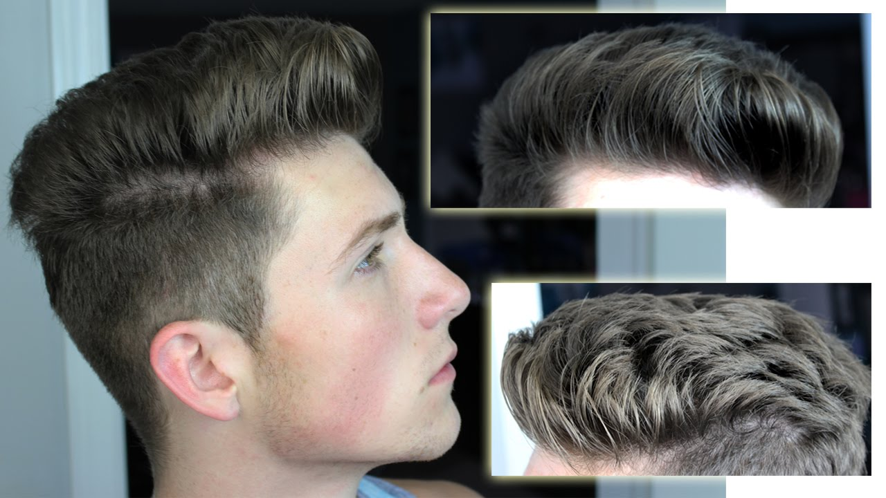 Messy Pompadour Mens Hair Tutorial Hairstyle Youtube