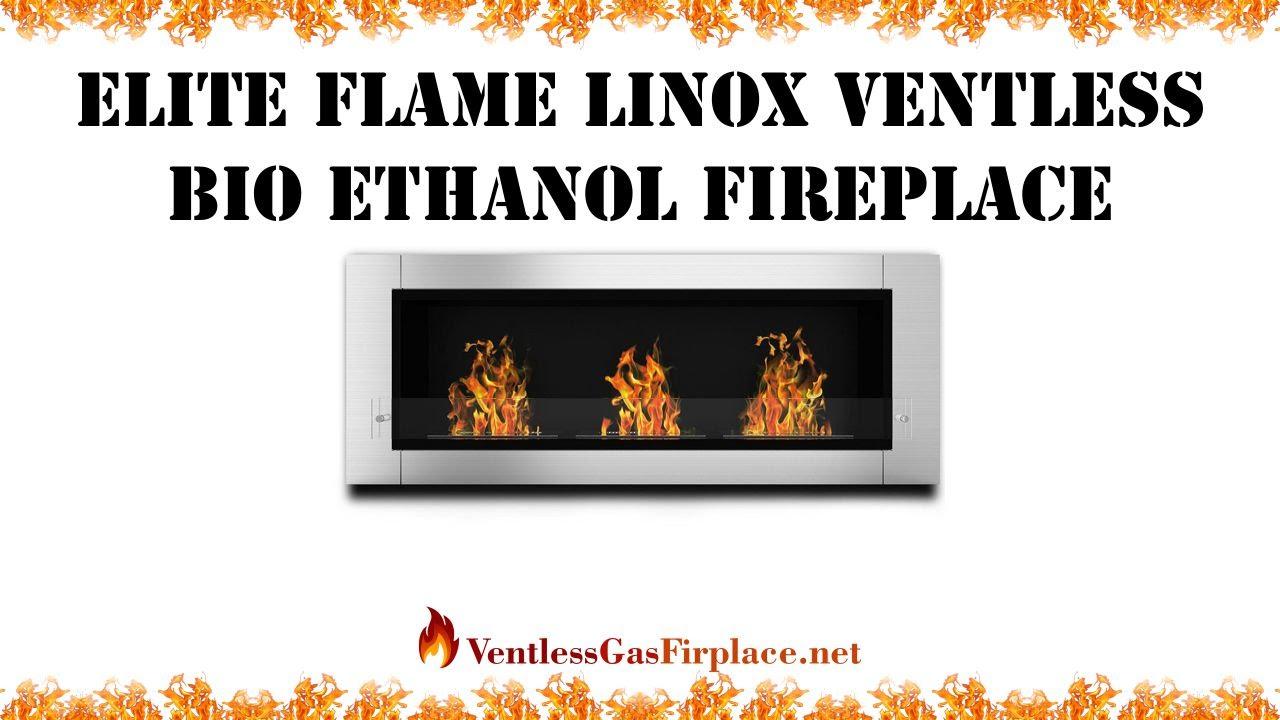 elite flame linox ventless bio ethanol fireplace ventless gas