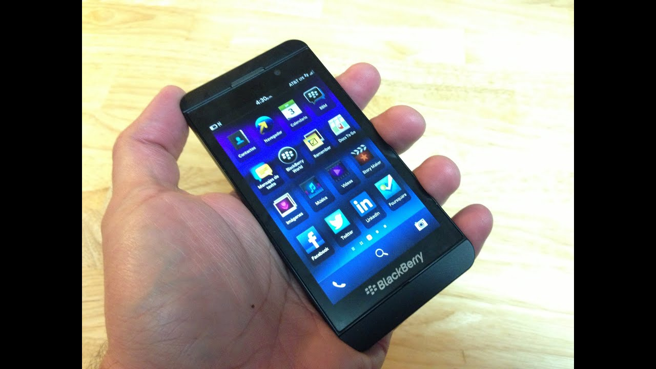 772adcb9484 Review BlackBerry Z10 - completo análisis - YouTube
