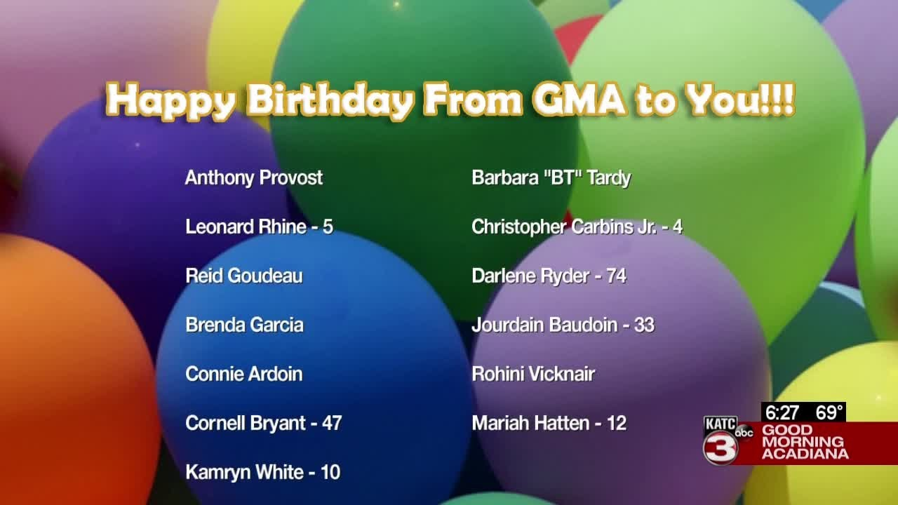 Today's birthdays   09/22/2020