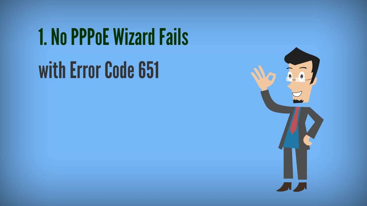 How to connect to internet by using windows 7 built in pppoe wizard - How To Easily Fix Error Code 651
