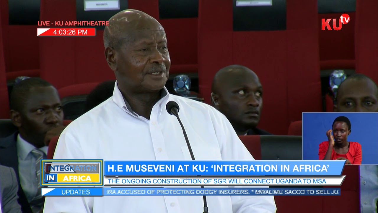 Museveni's Full Speech In KU, Economic Integration is the answer to Many Problems