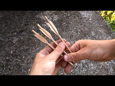 How To Make a Cobra Crossbow Pistol Arrows