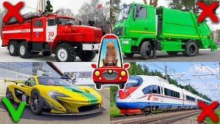 Изучаем транспорт и спецтехнику для детей. Развивающее видео для самых маленьких