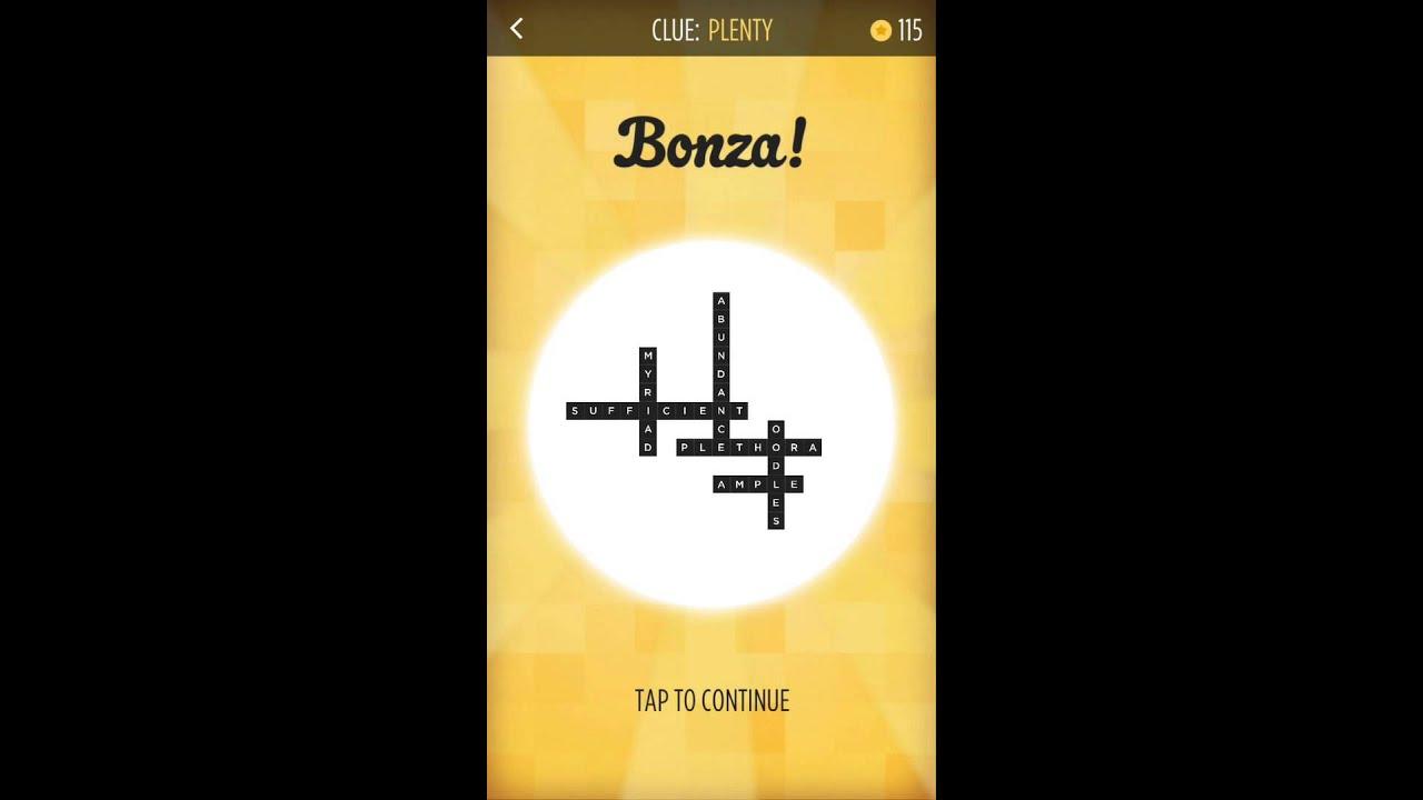 Bonza word puzzle plenty puzzle pack 1 walkthrough youtube