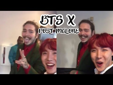 BTS X POST MALONE SMALL INTERACTIONS
