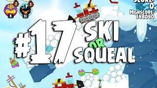 Angry Birds Seasons Ski or Squeal 1-17 Walkthrough 3 Star