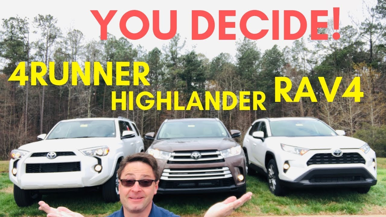 Toyota Highlander Vs Toyota 4Runner >> 2019 Rav4 Vs Highlander Vs 4runner The Ultimate Battle