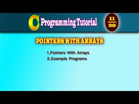 C Programming Tutorial DAY 11|Pointer with Array | Structure with pointer | CodeDeveloper thumbnail