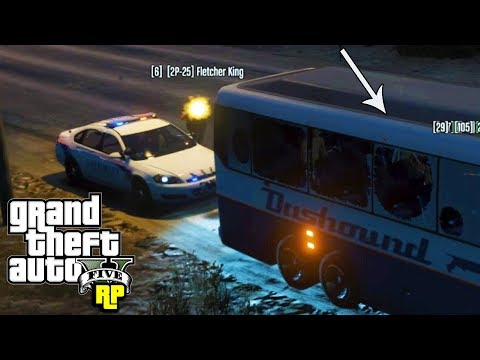Angry Cop Attacks School Bus! (GTA RP)
