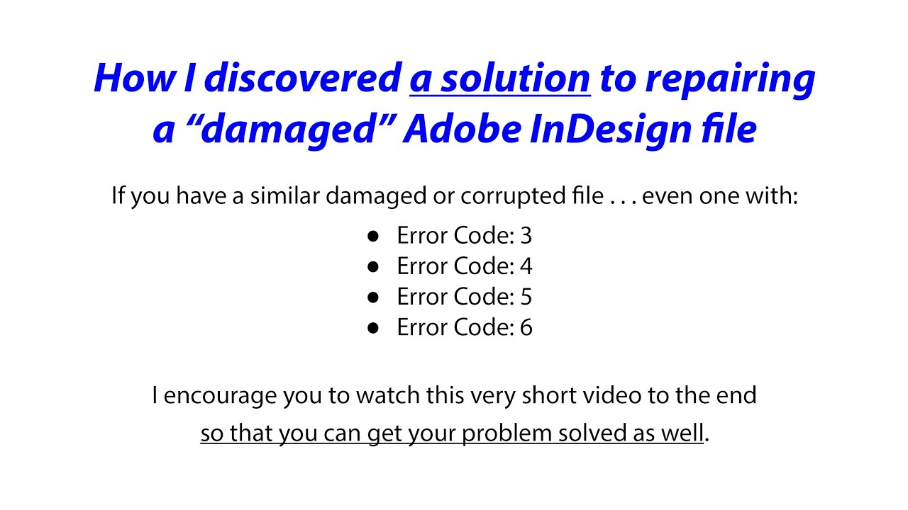 How To Easily Repair A Damaged Adobe Indesign File With Markzware