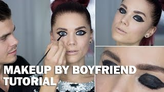 Makeup by boyfriend (with subs) - Linda Hallberg Makeup Tutorials Thumbnail