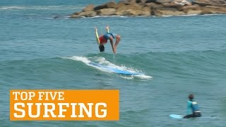PEOPLE ARE AWESOME: TOP FIVE - SURFING