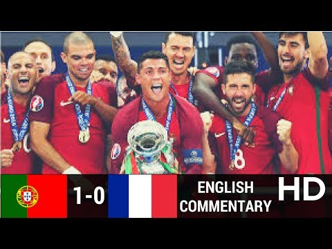 Portugal vs France 1-0 full highlights with English Commentary Euro Cup Final2016