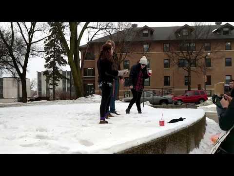 University of Minnesota Morris Students Protest Trump's Inauguration
