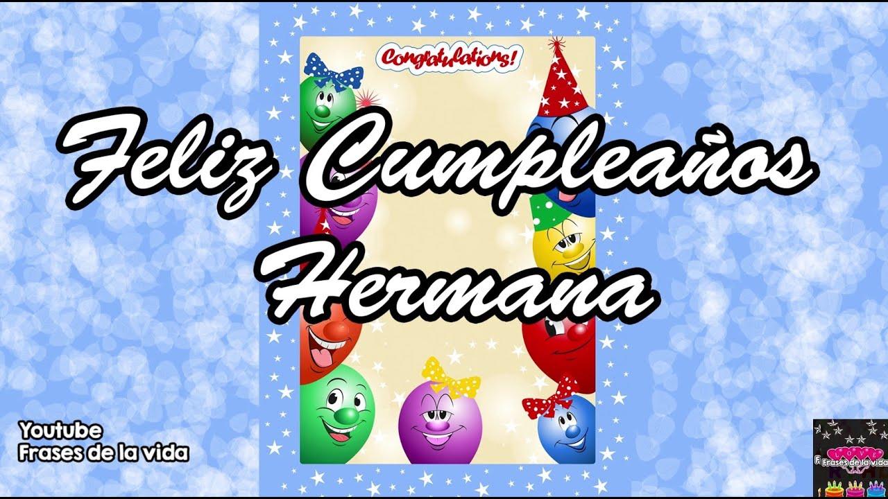 Frases para Tarjetas de Cumpleaños para mi hermana imagenes de cumpleaños para mi hermana YouTube