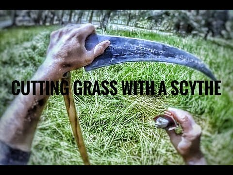 WARNING: EXTREMELY RELAXING SCYTHE LAWN MOWING COMPILATION
