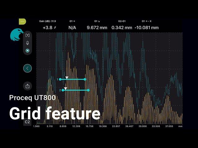 Grid feature I Proceq UT8000
