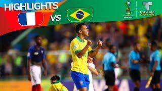 Francia Vs. Brasil: 2 3 Goals & Highlights | Copa Mundial Sub 17 | Telemundo Deportes