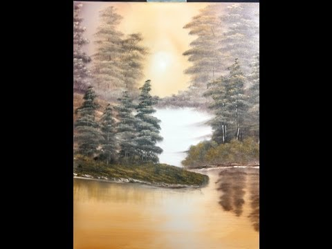 very easy oil painting lesson wet on wet golden morning ... Very Simple Canvas Paintings