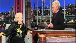 BETTY WHITE  late show David Letterman 5/16/12