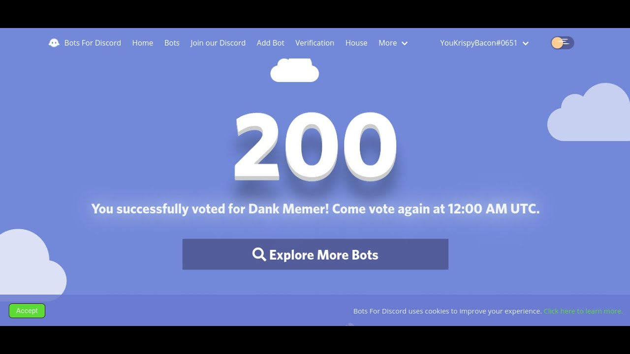 How To Vote For Dank Memer And Get 2 Normie Boxes Instead Of 1 Youtube