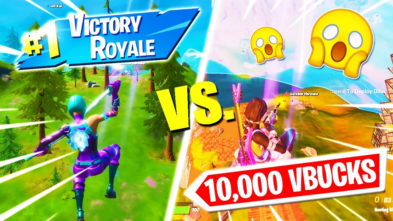10,000 V-Bucks Trickshot Wager! (Road To a Trickshot #4)