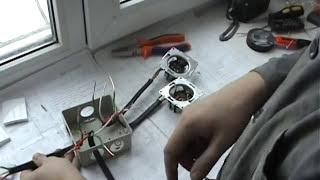 Схема соединения выключателя и розетки в коробке(Предлагаю вашему вниманию схему соединения в распределительной коробке двухклавишного выключателя и..., 2013-02-06T23:35:31.000Z)