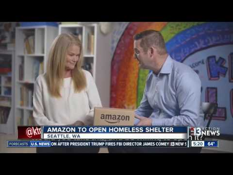 Amazon to open homeless shelter in Seattle