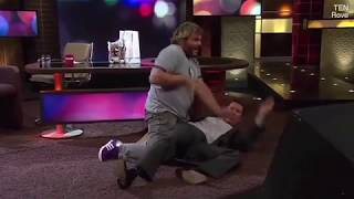 Rove McManus gets 'Kung Fu flipped' by Jack Black