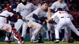 Yankees and Red Sox have benches clearing brawl!! The rivalry is back!!