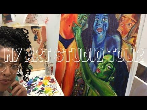 MY ART STUDIO TOUR | COLLEGE ART STUDENT| BYARIDANNIELLE