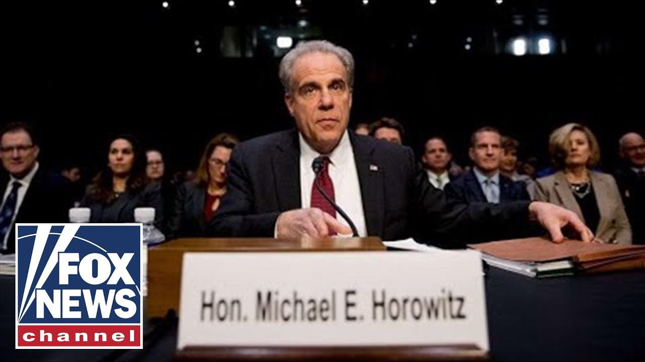Tom Fitton says Horowitz report reveals Trump was a crime victim
