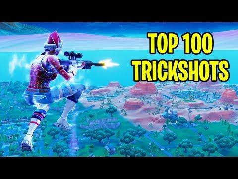TOP 100 FORTNITE TRICKSHOTS OF ALL TIME! (Fortnite Battle Royale Montage)