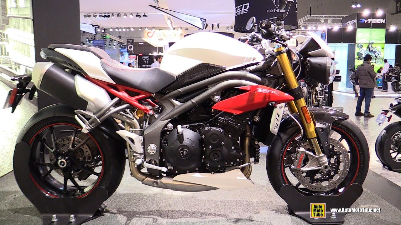 2016 triumph speed triple 1050r - walkaround - debut at 2015 eicma