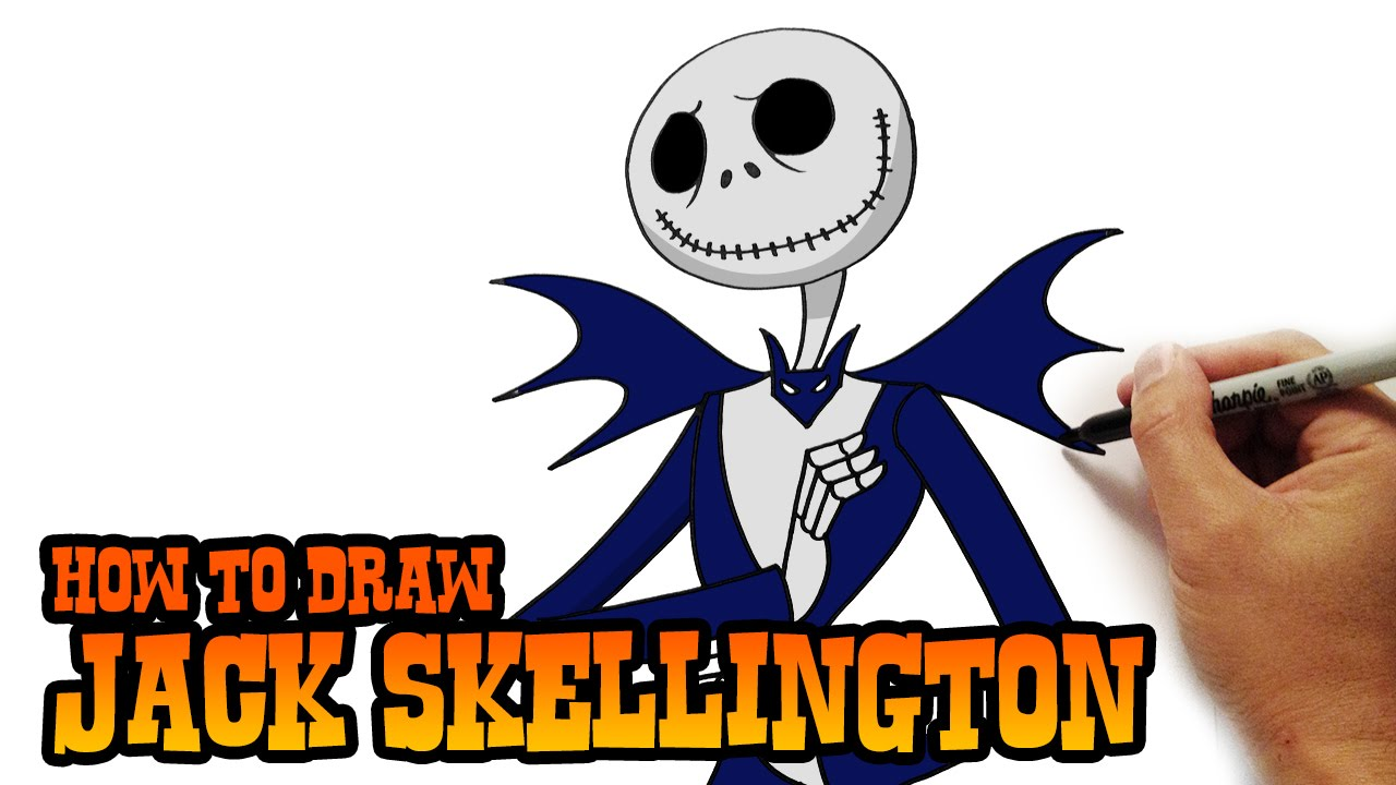 How To Draw Jack Skellington Easy Art Lesson Youtube