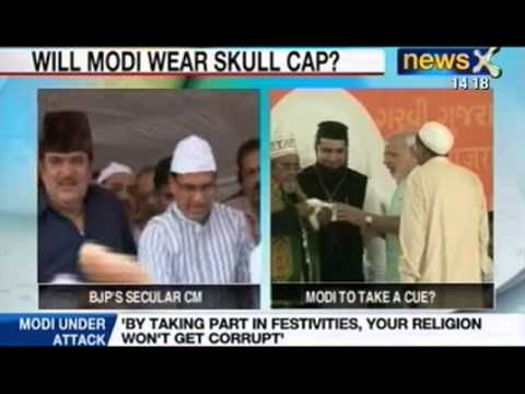 News X: Raza Murad takes a jibe at Narendra Modi over skull cap