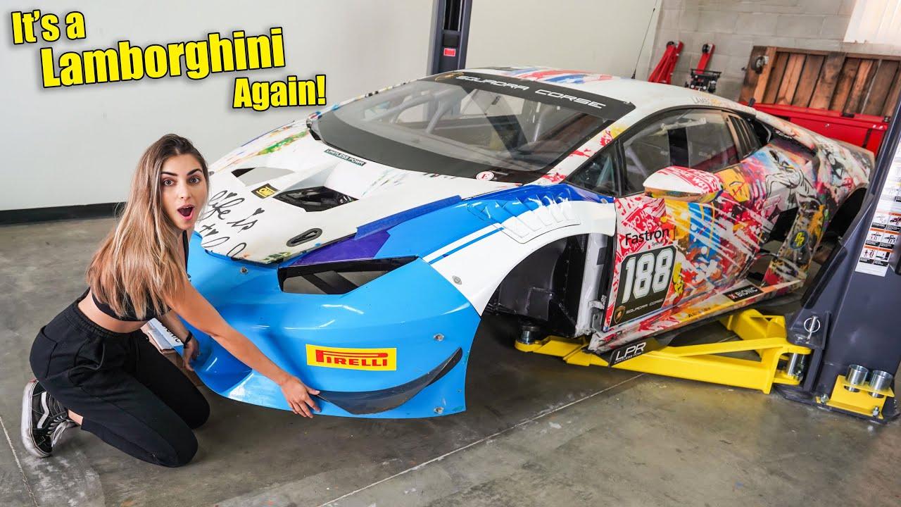 Rebuilding A Badly Wrecked Lamborghini Race Car Part 1