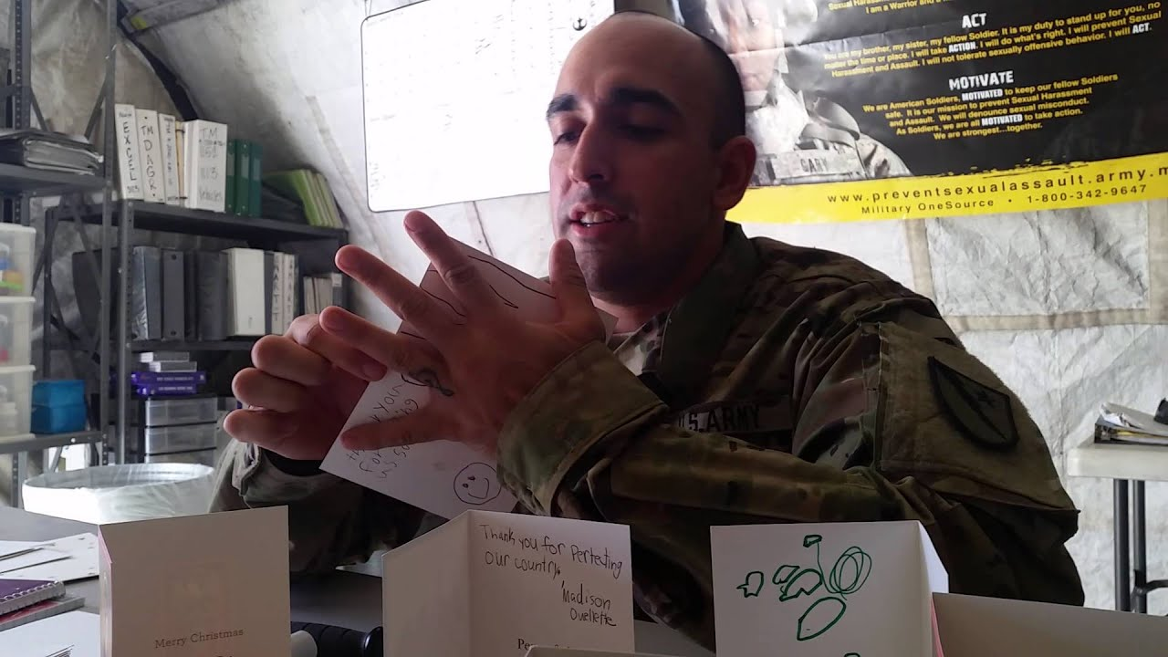 Soldier reading Christmas Cards - YouTube