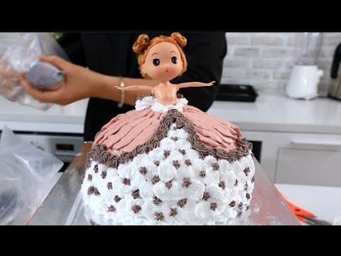 Hướng dẫn trang trí bánh gato công chúa với #feedy