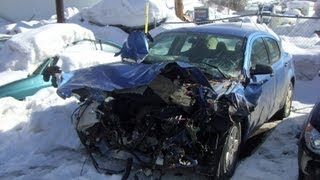Car accident, Crash on the road, Colorado, United States, North America