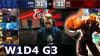 ANX vs G2 - Worlds 2016 W1D4 Group A | LoL S6 World Championship Week 1 Day 4 Albus Nox Luna vs G2