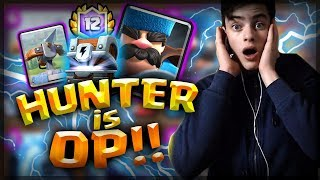 NEW HUNTER DECK! EZ 12 WINS WITH THIS NEW XBOW HUNTER GUARDS DECK (+ LIGHTNING CHEST OPENING)