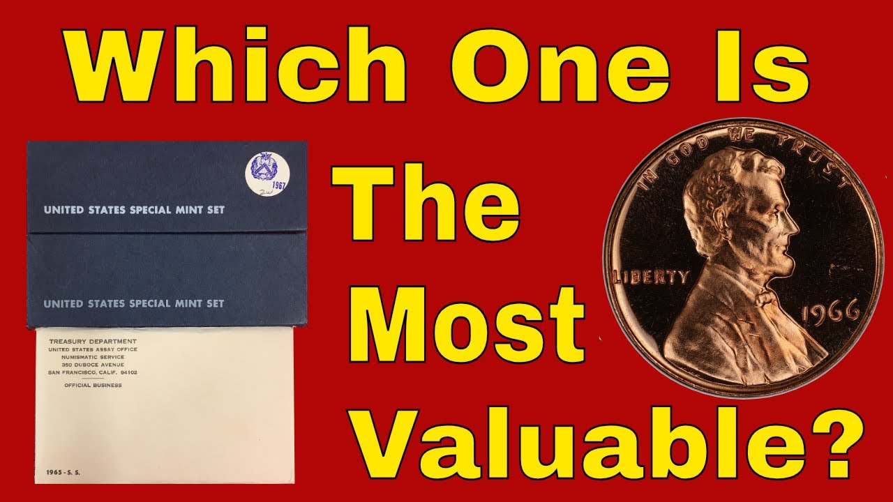 Special Mint Set penny coins worth money! Rare 1965 -1967 SMS penny value!
