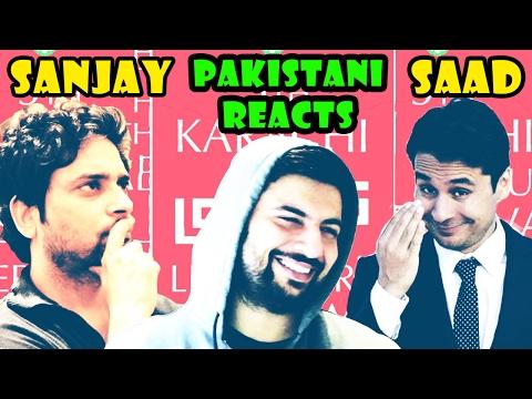 Pakistani Reacts to Indian\Pakistani Comedians at KLF 2016 | Sanjay Rajoura w Saad Haroon
